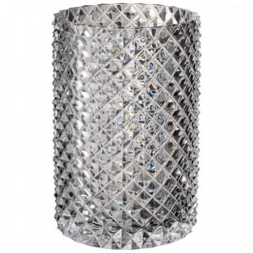 Crystal Diamond Glass Vase - 22.1cm
